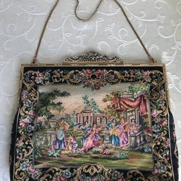 J. Jolles Studio, Vienna, Austria Handbags   Art Deco Petit Point Handbag,